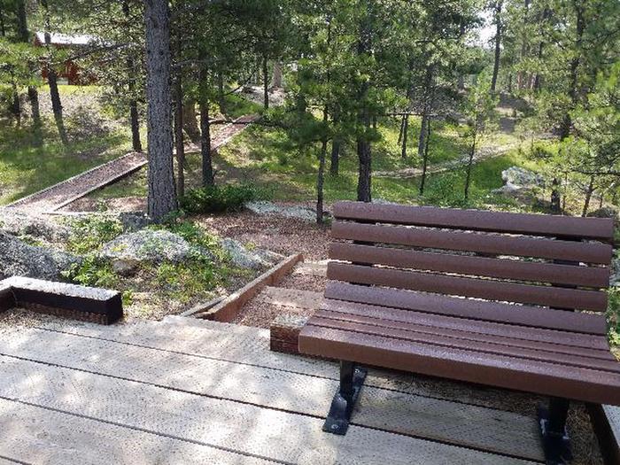 Upper overlook with bench