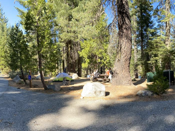French Meadows Campground Campsite 18