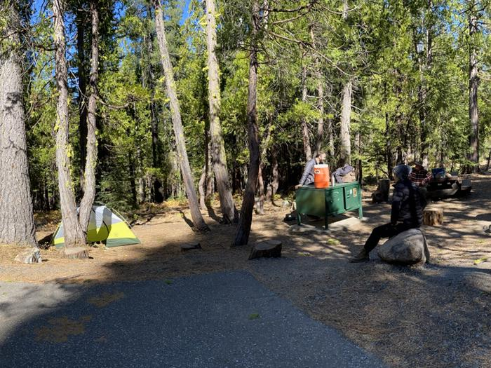 French Meadows Campground Campsite 34
