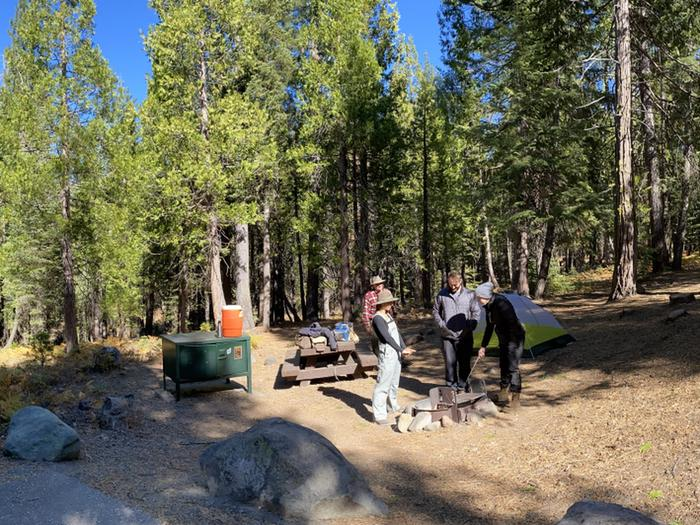 French Meadows CampgroundCampsite 35