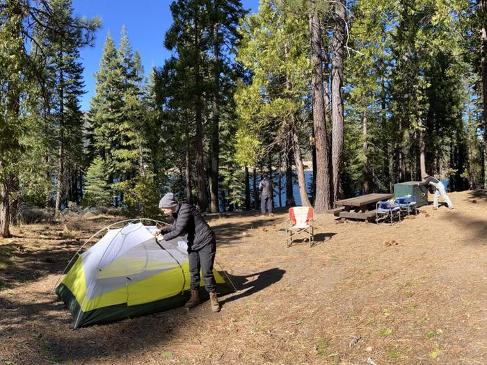 French Meadows Campground Campsite 45