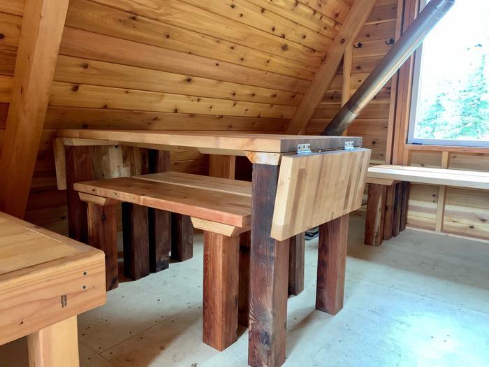 Goose Bay Cabin - Custom tableCustom Table, interior Cabin