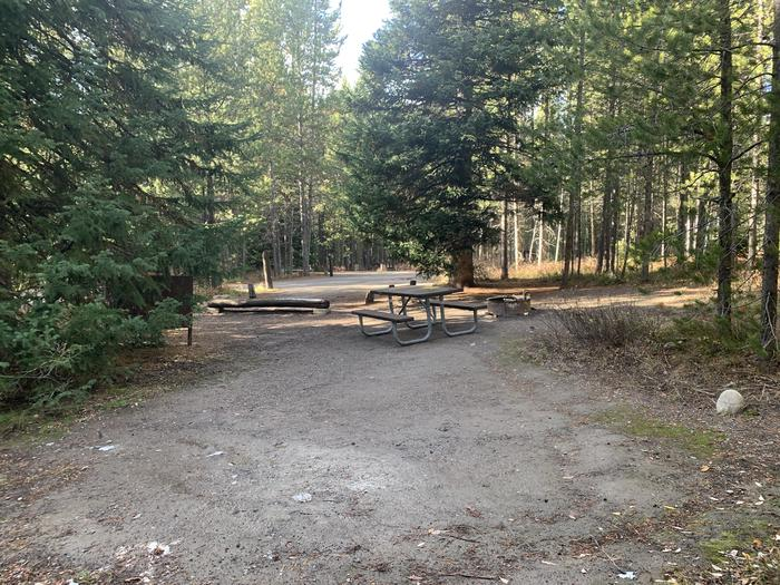 A photo of Site 62 of Loop 2 at Signal Mountain Lodge Campground with Picnic Table, Fire Pit, Shade, Food Storage