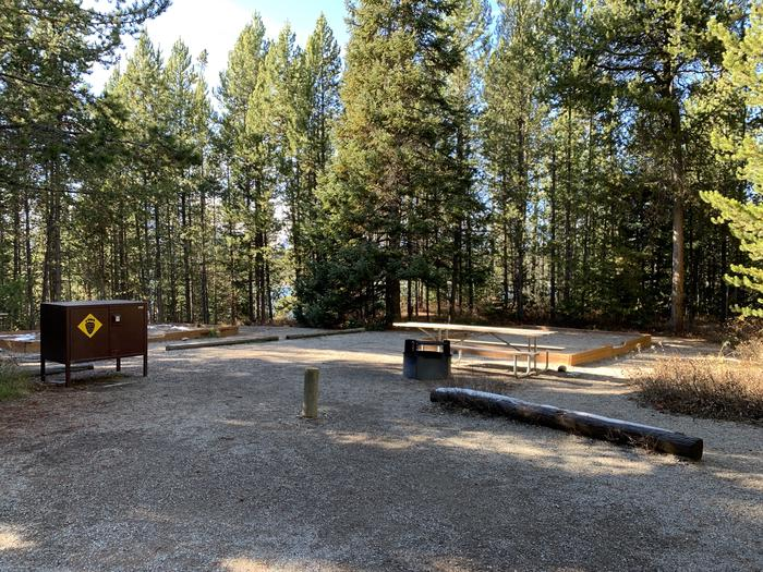 A photo of Site 43 of Loop 2 at Signal Mountain Lodge Campground with Picnic Table, Fire Pit, Shade, Food Storage, Tent PadADA Accessible