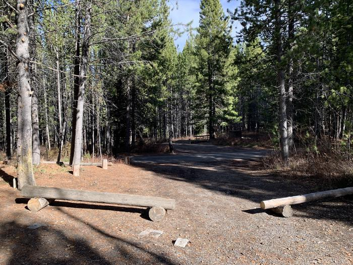A photo of Site 75 of Loop 3 at Signal Mountain Lodge Campground with Picnic Table, Fire Pit, Shade, Food Storage, Tent Pad