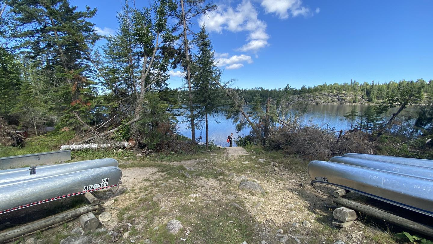 Chain of Lakes canoe launch pointB9 - Locator Lake backcountry campsite