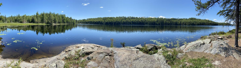 Panoramic view from campsiteB9 - Locator Lake backcountry campsite