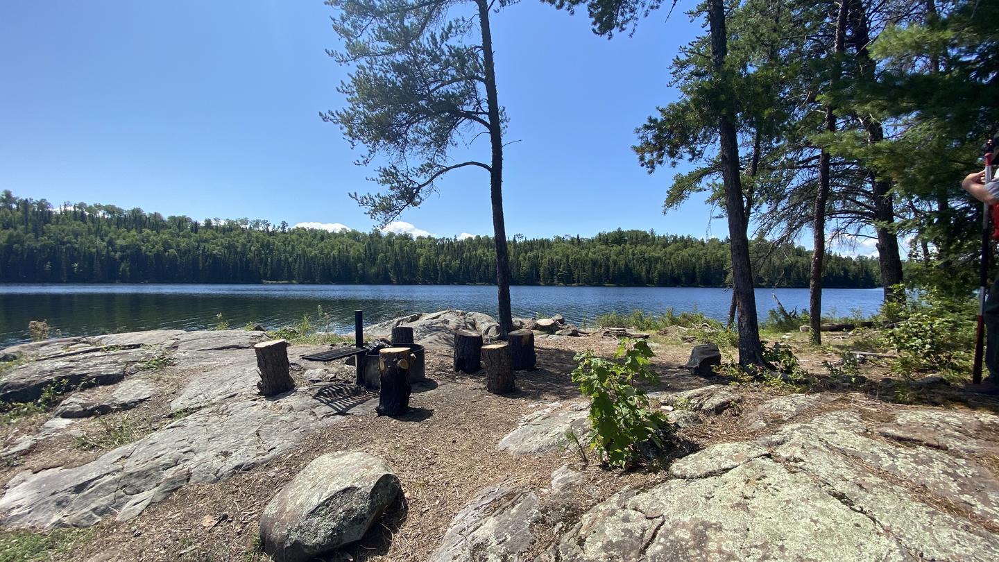 View looking southwest from campsiteB9 - Locator Lake backcountry campsite