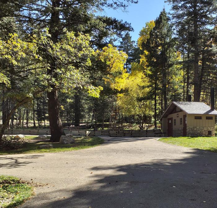 ASPEN Group Campground Paved Driveway which loops around the site