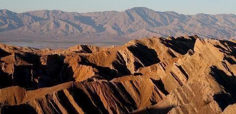 Santa Rosa WildernessTwo mountain ranges surround a valley. Santa Rosa Wilderness is in the mountain range in the background.  The foreground range is Mecca Hills Wilderness.