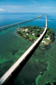 Aerial View of the Seven-Mile Bridge in the Florida Keys