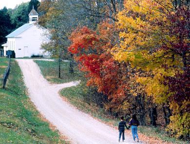 An Autumn Walk Along the Ohio River