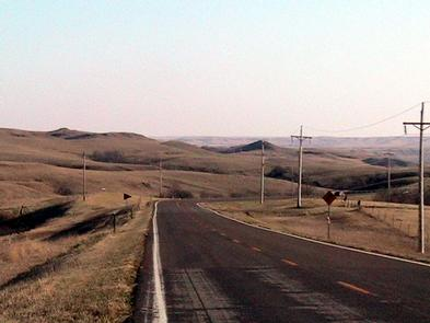 View of Native American Scenic Byway on the Cheyenne River Sioux Reservation