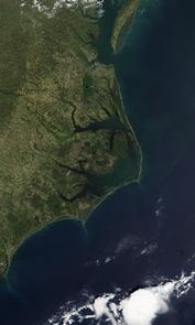 A Satellite View of North Carolina's Outer Banks Scenic Byway Route