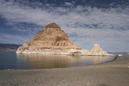 Sunlight on Pyramid Rock