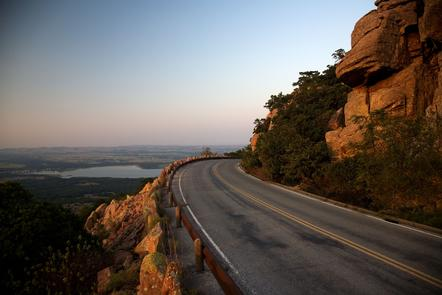 Road Traveling up Mount Scott