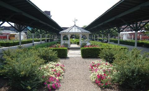 Formal Gardens Formerly a railroad terminal,  now a member of Historic Hotels of America, that Chattanooga Choo Choo welcomes guests to its unique locations such as these formal gardens.