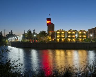 The River The Napa River Inn sits along 2.5 river front acres, a lasting vestige from the hotel's beginning years as a functioning mill and business center.