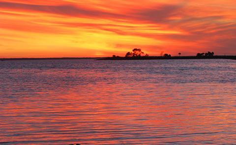 Sunset at Apalachicola National Estuarine Research Reserve, Florida