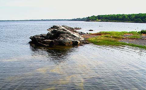 View of Narragansett Bay National Estuarine Research Reserve, Rhode Island