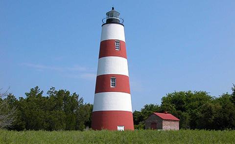 Lighthouse at Sapelo Island National Estuarine Research Reserve, Georgia