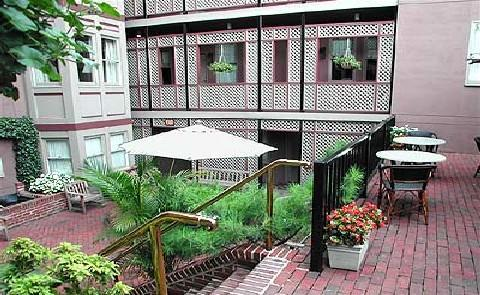 City Location, Historic FeelThe prime placment of the Morrison-Clark Inn only steps from the most bustling parts of the city all disappears when guests access the tranquil interior courtyard.