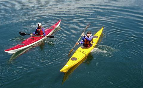 KayakersKayakers in Olympic Coast National Marine Sanctuary