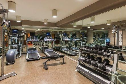 Active InsideThe hotel has a fitness room for the active guests to sneak in a workout when away from home.