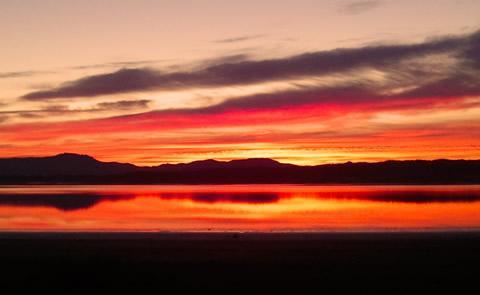 Sunset at lakesunset at the lake
