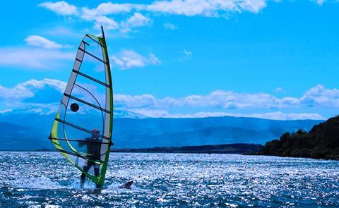 Windsurfing on the lakeWindsurfer