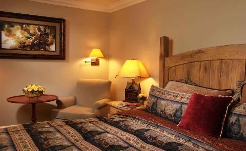 True Western HospitalityEach of the 59 guest rooms at this Historic Hotel of America take their inspiration from the surronding country- including five richly appointed Western themed suites.
