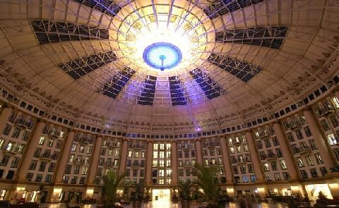 """Atrium    The atrium at West Baden Springs was the largest free-span dome until the Houston Astrodome was constructed in the 1960s. It has been dubbed the """"Eighth Wonder of the World."""""""