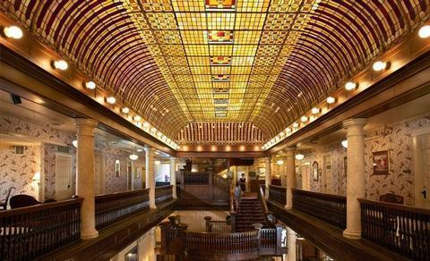 Famed Details Between the famous Art Deco leaded glass ceiling and the cantilevered cherry wood staircase, the heart of the Hotel Boulderado is one of the most photographed spots in Boulder.