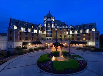 """Exterior The iconic """"Tudor"""" style of the Hotel Roanoke dates back to 1931, when despite the Depression this hotel managed to grow and adapt to new technology."""