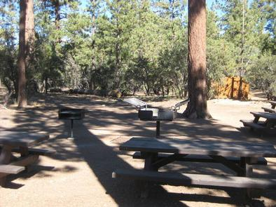 BBQ Grills & Picnic Tables at Tanglewood Group Camp Sign