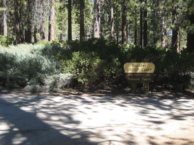 Boulder Group Campground Sign