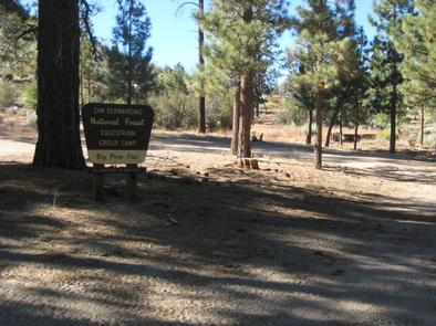 Big Pine Equestrian Group Campground Sign