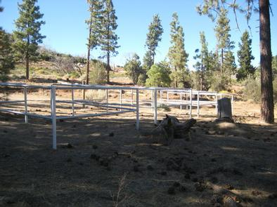 4 Horse Corrals at Big Pine Equestrian Group Campground