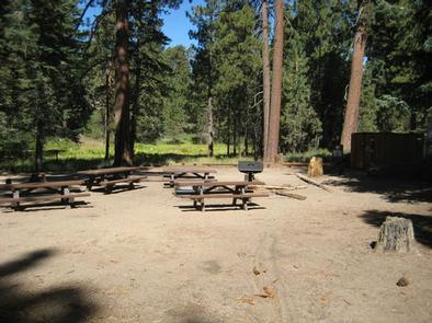 Picnic Tables and BBQ Grill at Deer Group Camp