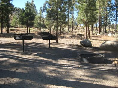 BBQ Grill area at Big Pine Equestrian Group Campground