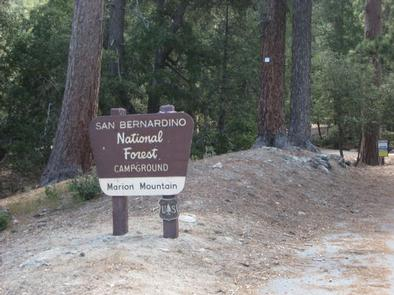 Marion Mountain Campground Sign