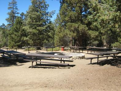 Camp Fire Circle & Picnic Tables at Heart Bar Equestrian Campground