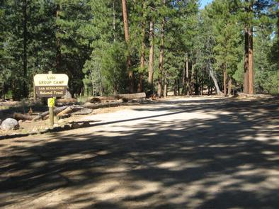 Shade and the Lobo Group Campground Sign
