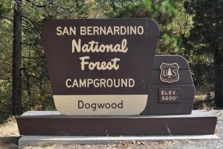 Dogwood Campground Sign