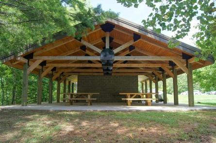 Picnic pavilion at day use area