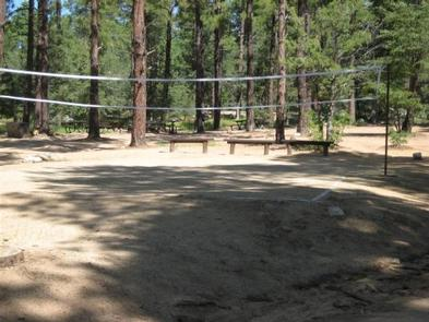 UPPER WOLF CREEK GROUP CAMP VOLLEY BALL COURTVolleyball court with benches, volleyball net is not provided.