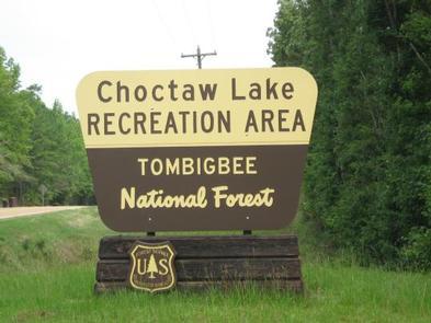 Choctaw Lake signChoctaw Lake Recreation Area entrance sign