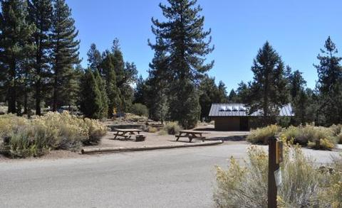 Serrano Campground picnic tables