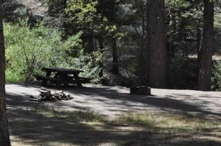 Naturally Shaded Area at Hanna Flat Campground
