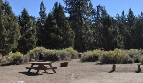 Serrano Campground picnic table